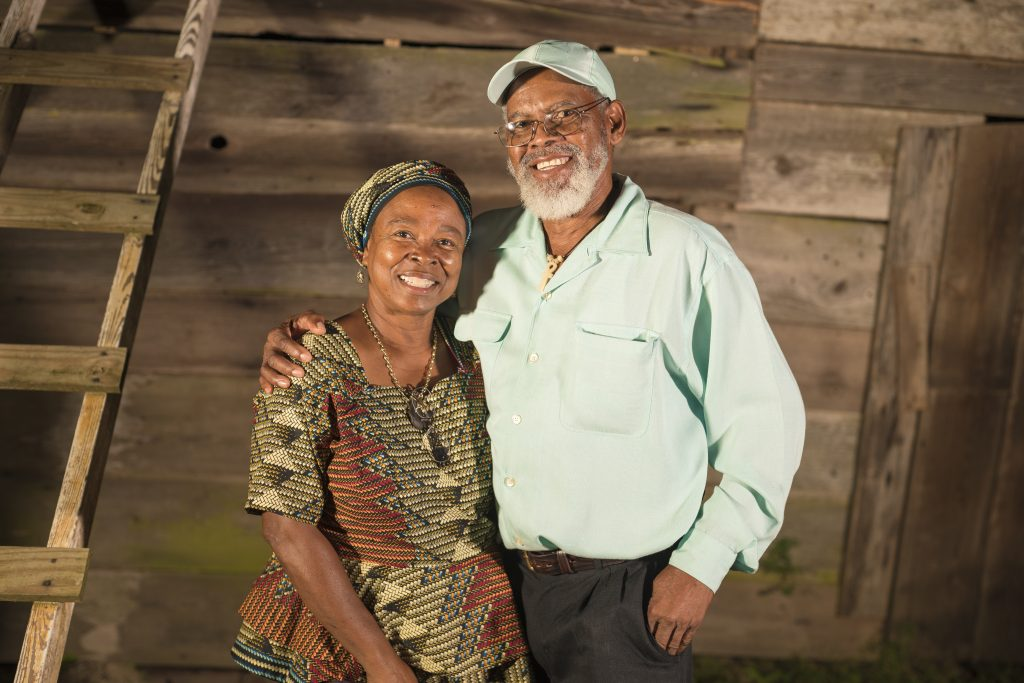 Black Farmers' Network | Dr. Veronica Womack |St. Thomas farming couple Alcedo, 67, and Anna, 62, Frances on rural Georgia grant tour.